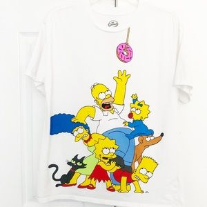 The Simpsons Donut Grab Graphic T-shirt Size S